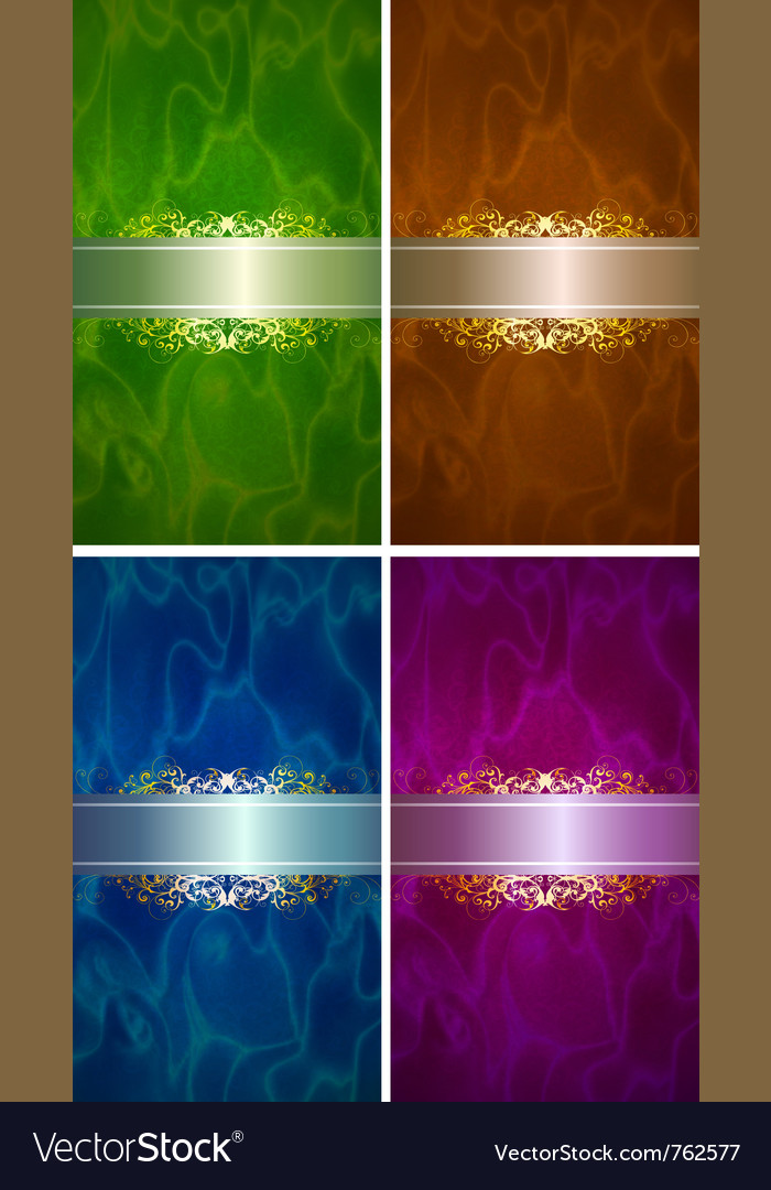 Luxery label set vector image