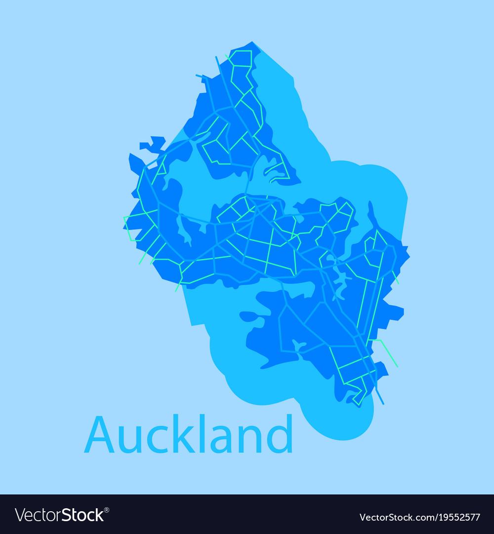 Map Of New Zealand Auckland.Map Auckland New Zealand Flat