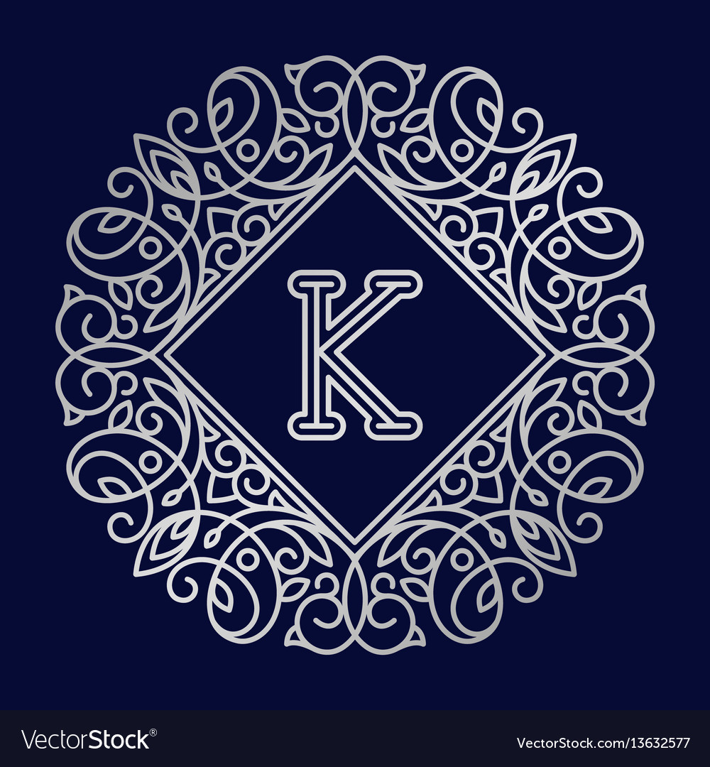 Monogram k bage logo text
