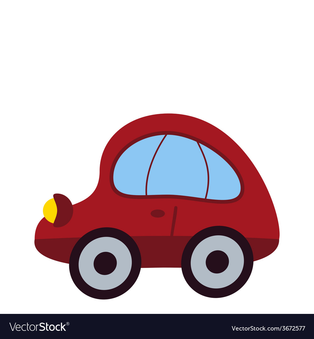 Toy Car Icon Royalty Free Vector Image Vectorstock