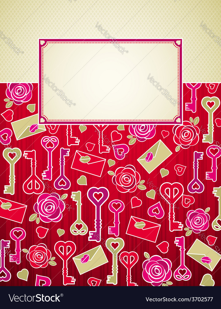 Valentine background with pink and red hearts
