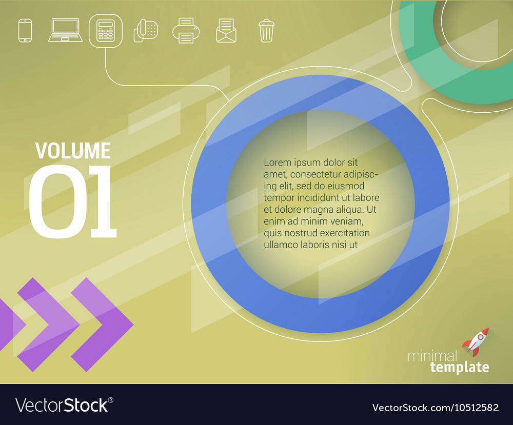 Abstract geometrical presentation mock up vector image