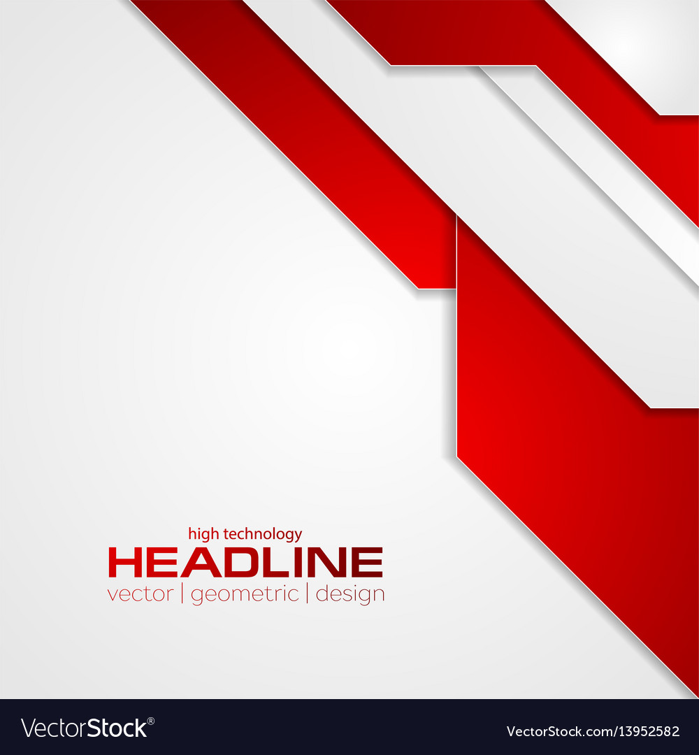 Abstract red tech corporate flyer background