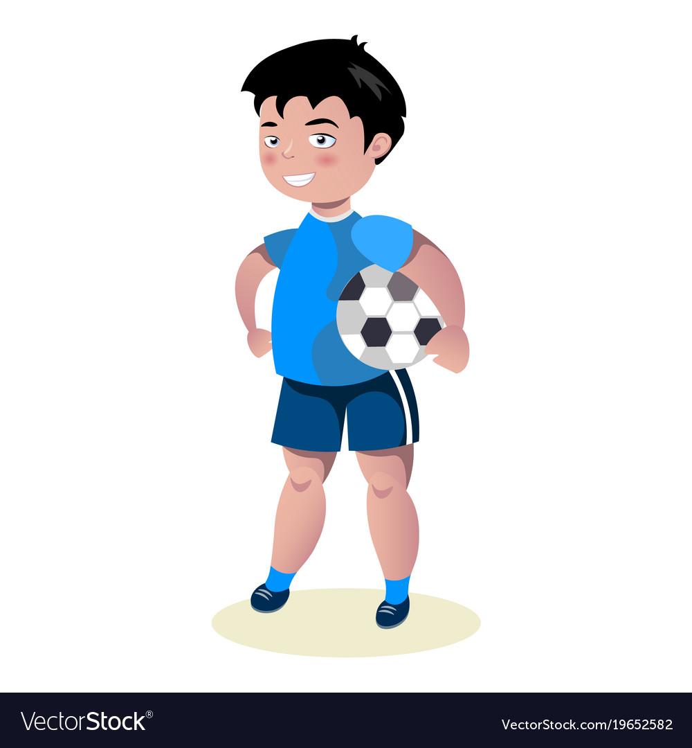 Boy soccer football player