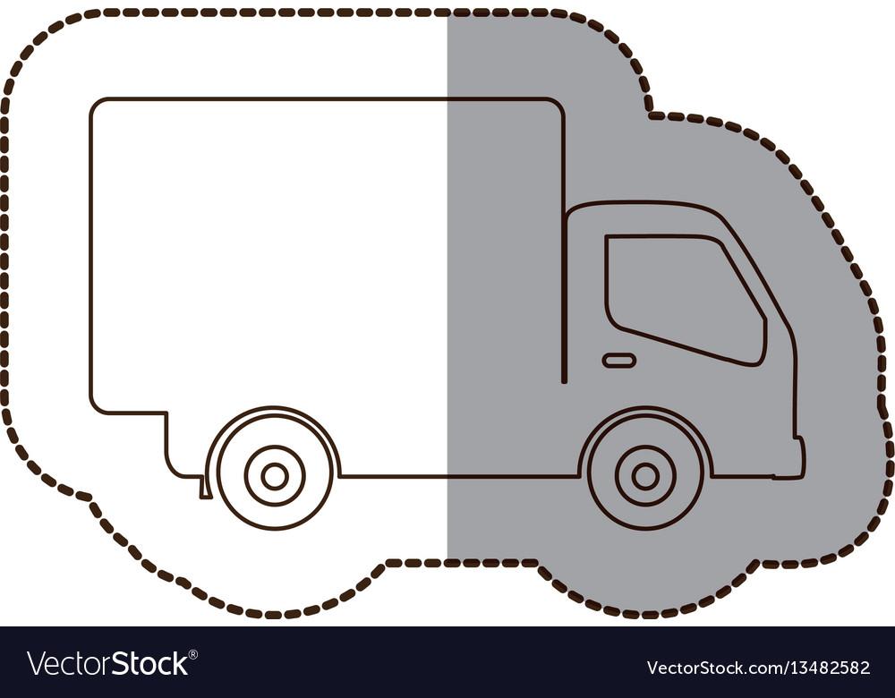 Figure delivery car icon