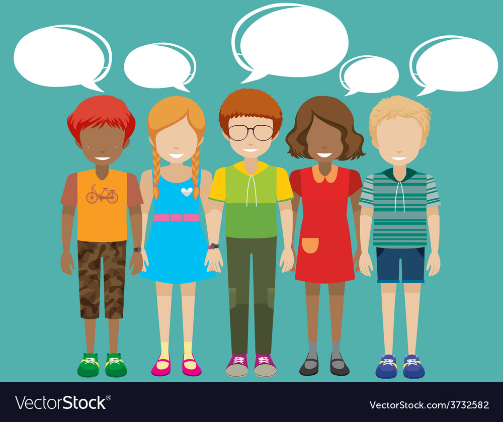 Kids with empty callouts vector image