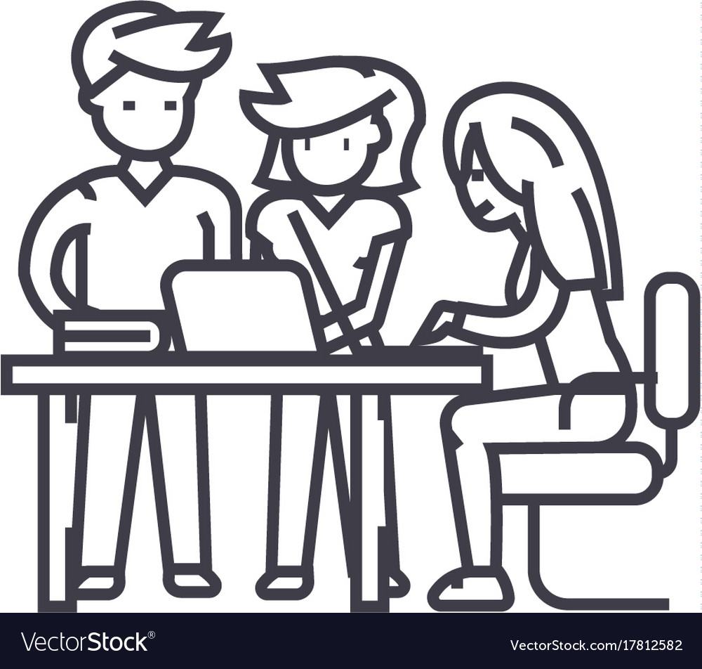 startup office team project brainstrorm royalty free vector