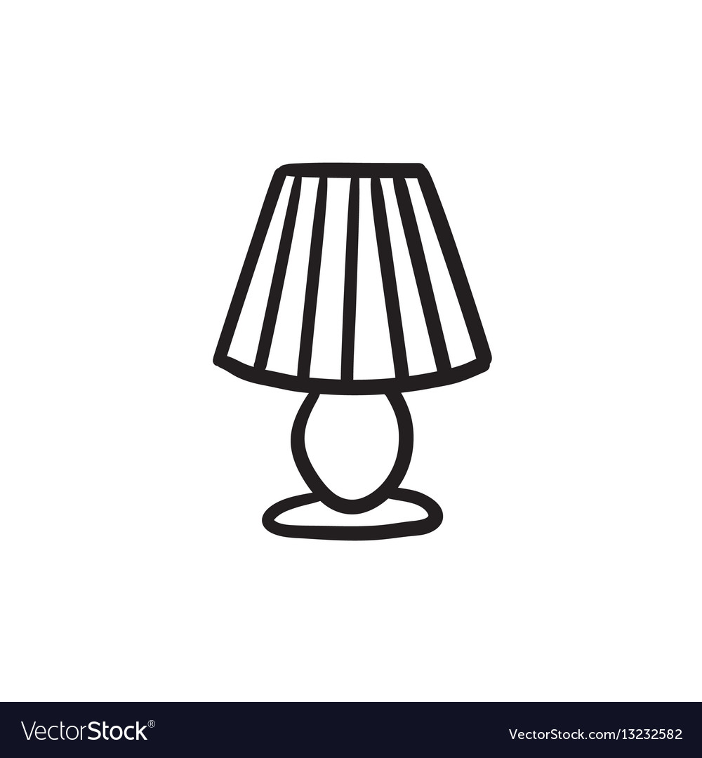 icon lighting. Contemporary Lighting Table Lamp Sketch Icon Vector Image For Icon Lighting
