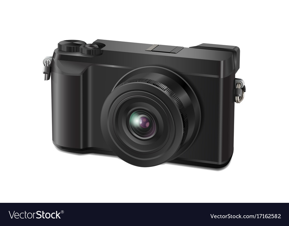 Camera Vintage Vector Free : Vintage style camera isolated on white royalty free vector
