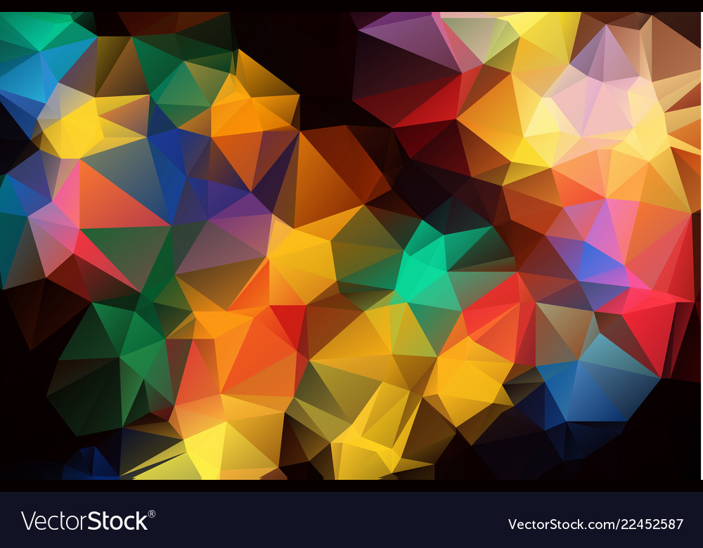 Abstract colorful polygonal which consist of
