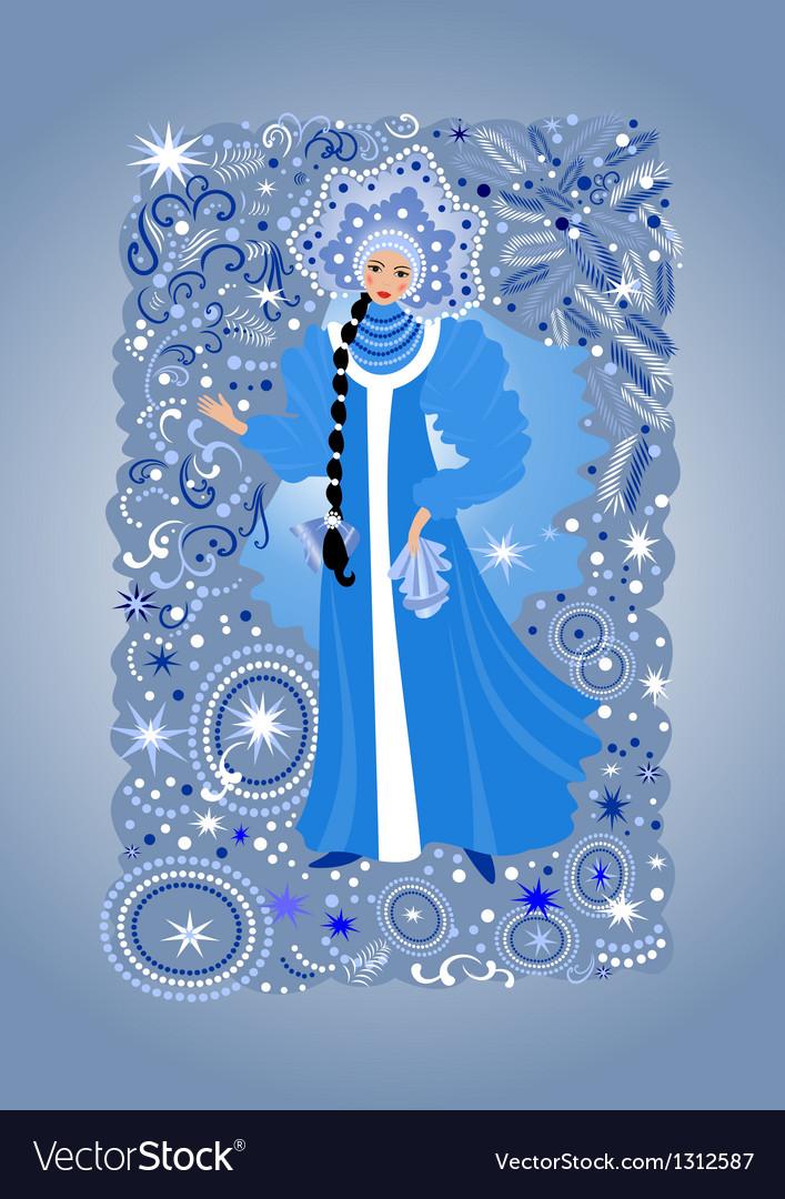 Beautiful snow maiden