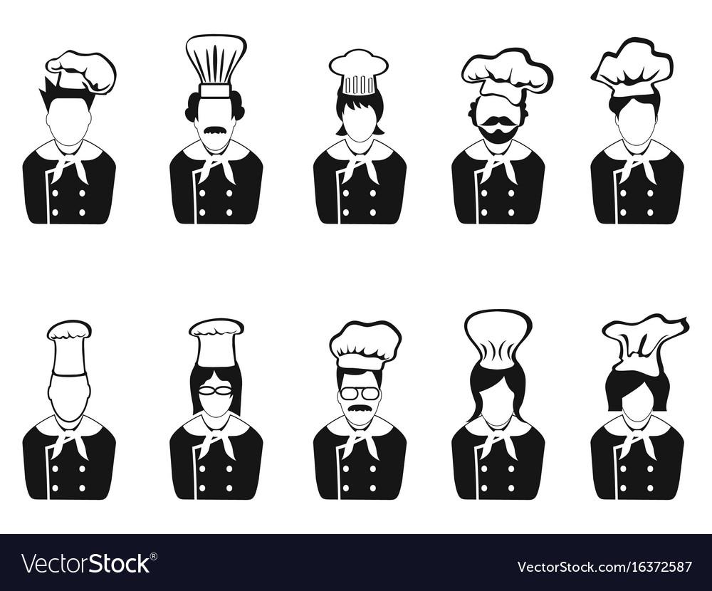 Chefs head icon
