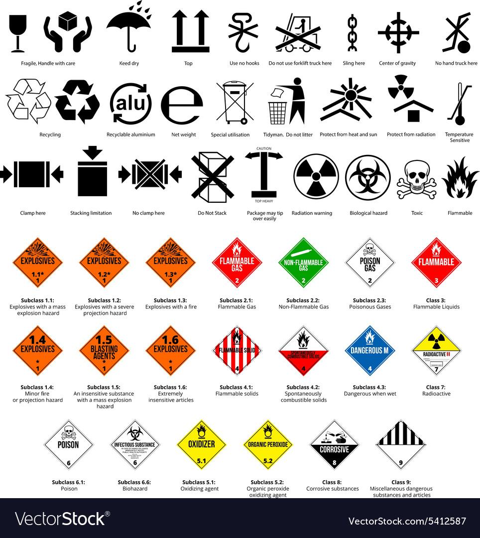 Dangerous Symbol Royalty Free Vector Image Vectorstock