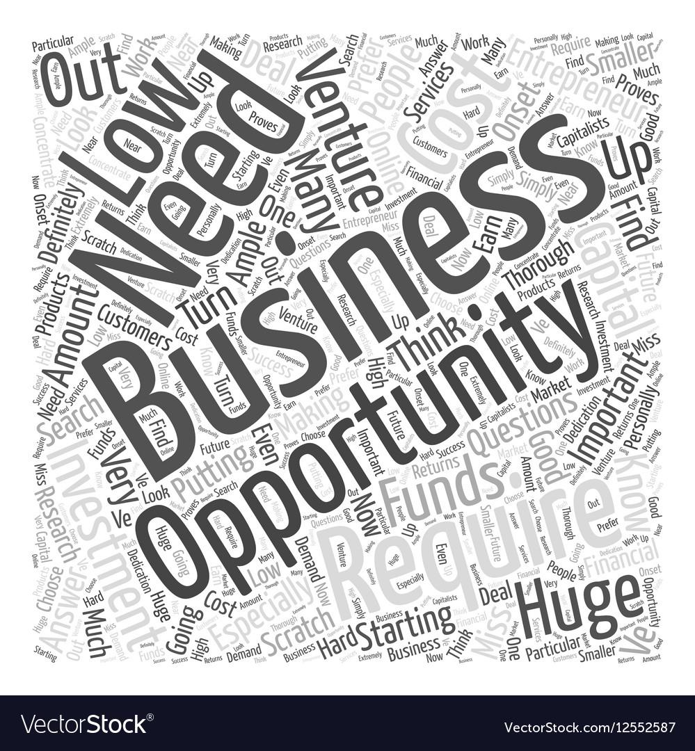 Entrepreneur opportunities Word Cloud Concept