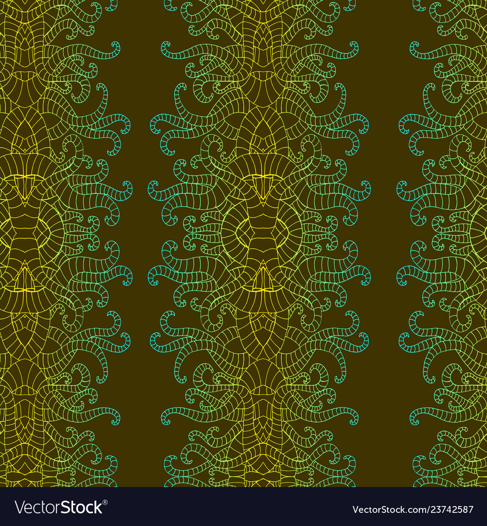 Psychedelic vertical colorful decorative pettern