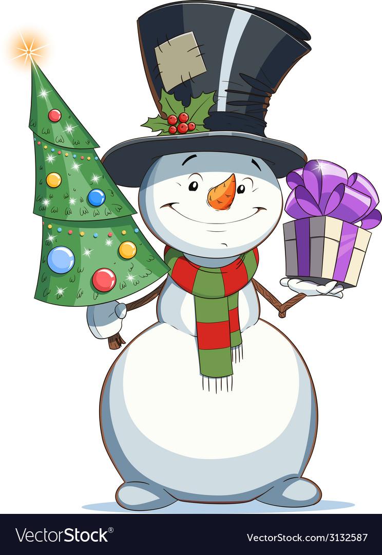 современном картинки мультяшного снеговика с елкой особыми