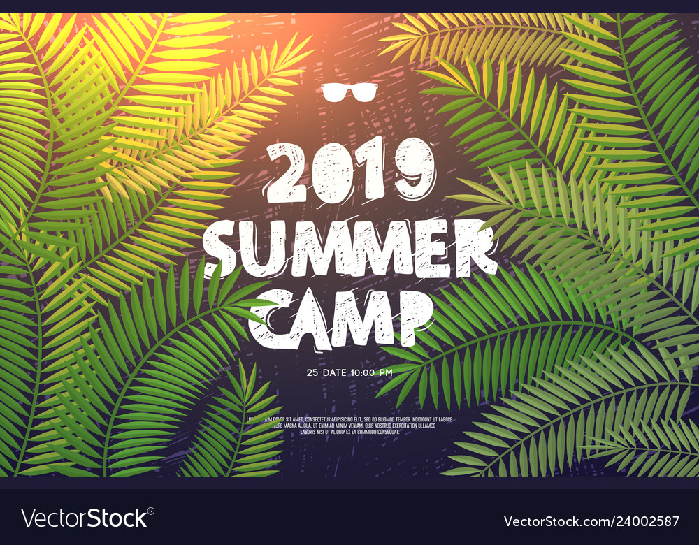 Summer holiday and travel themed summer camp