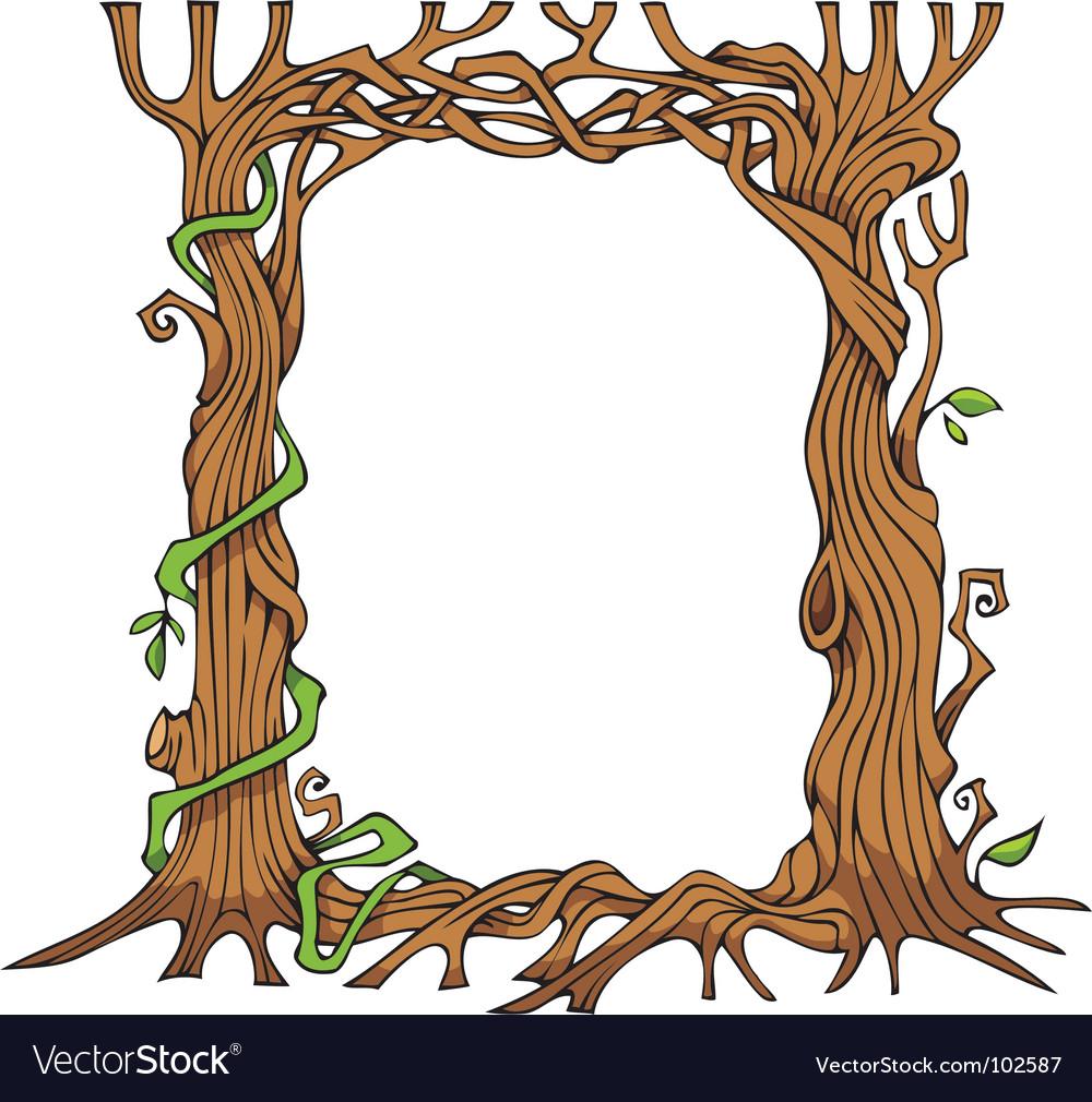 Tree shaped photo frame vector image
