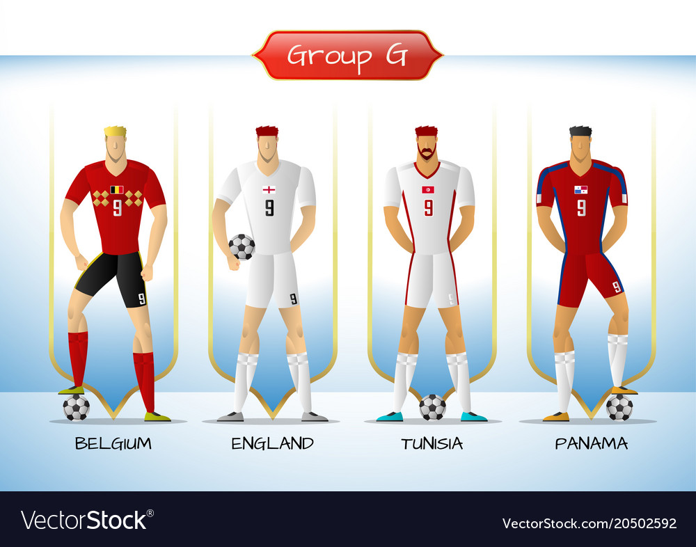 2018 soccer or football team uniform group g