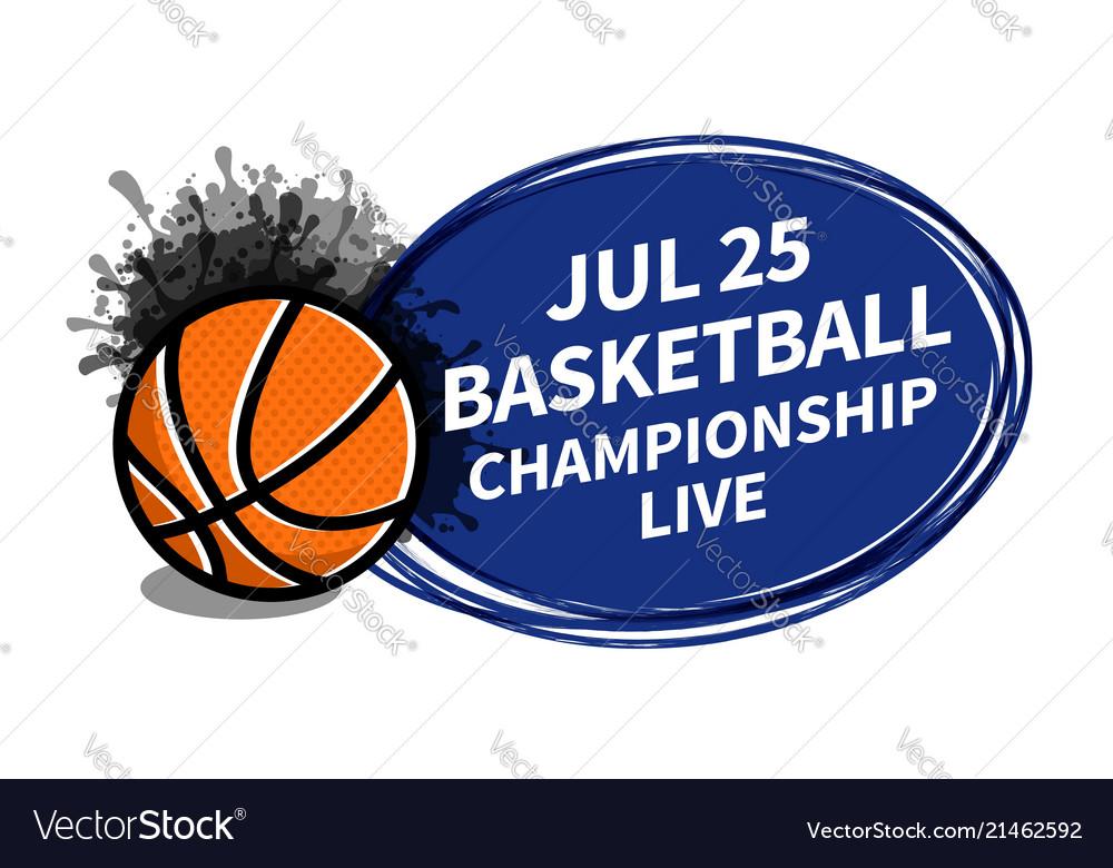Basketball sport scoreboard spotlight background