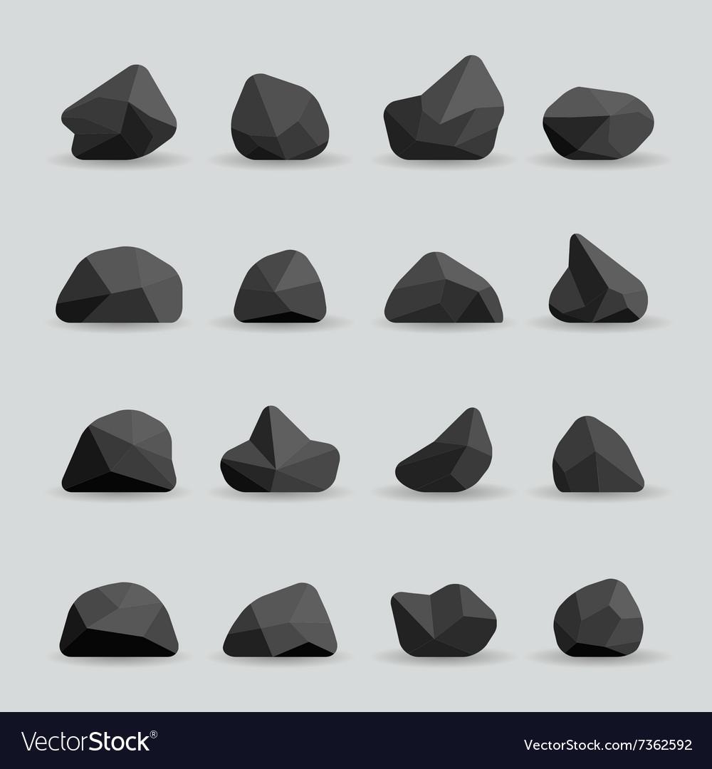Black stones in flat style