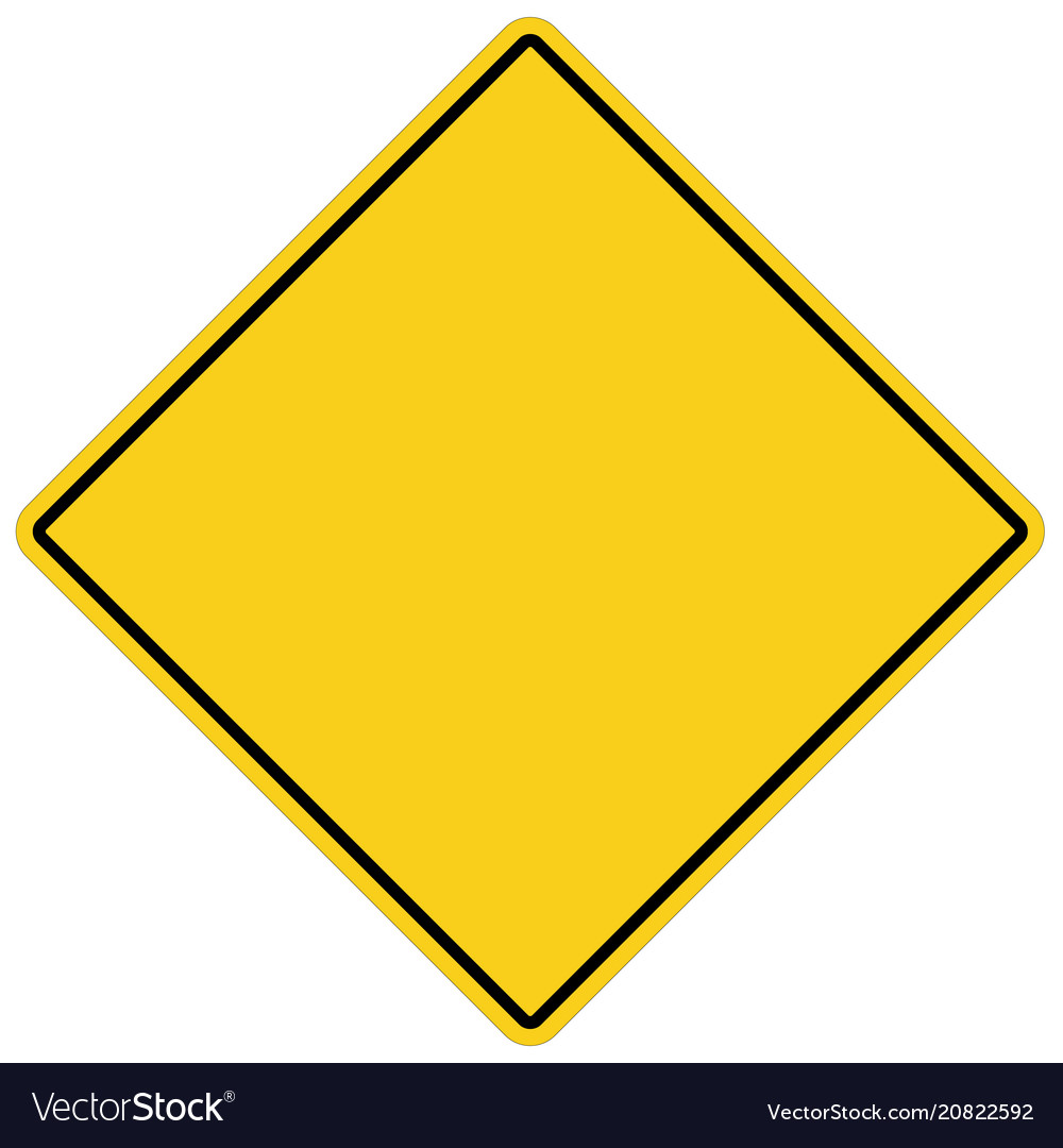 Blank yellow sign empty yellow symbol on white