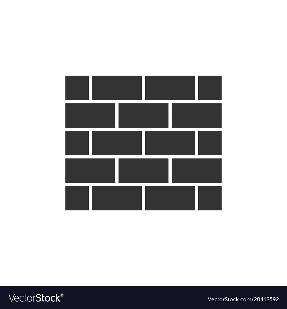 Brick wall black icon vector image