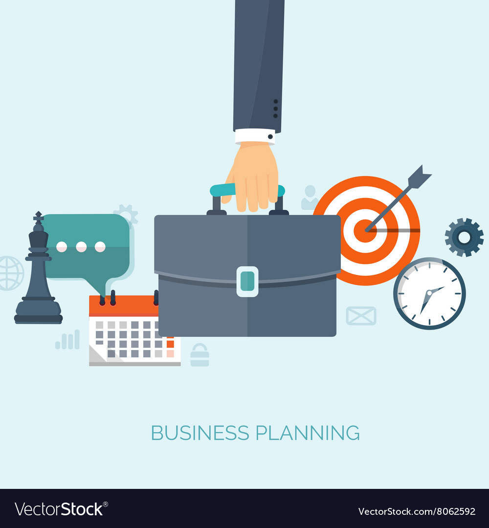 Flat business background Portfolio Time