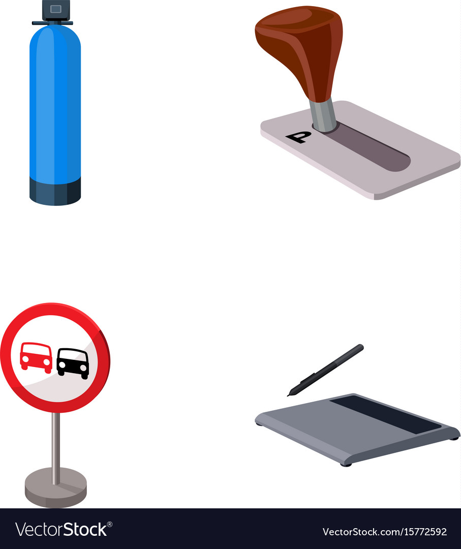 Gas Cylinder Parking Brake And Other Web Icon In Vector Image