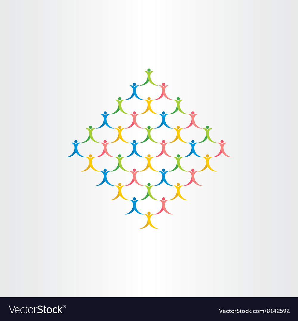 Group of people crowd icon design symbol