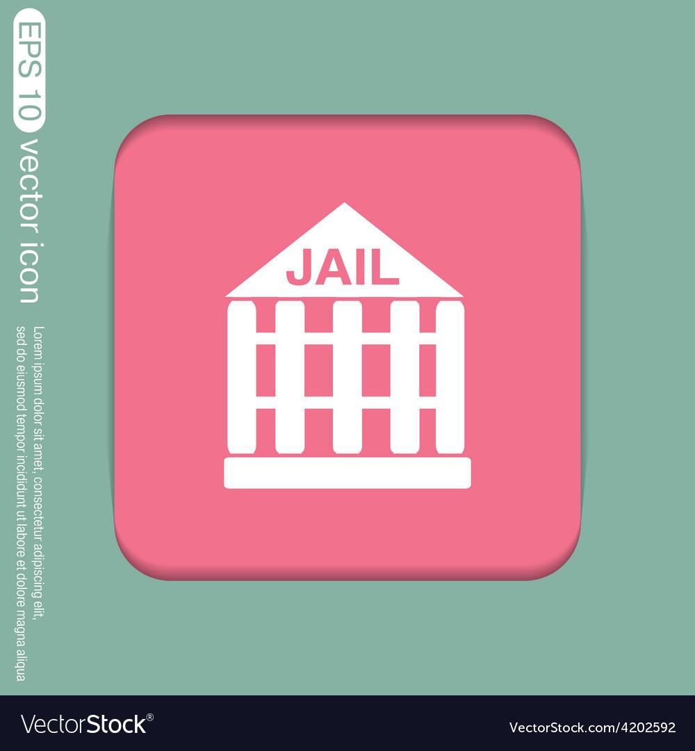 Jail prison icon symbol of justice police icon