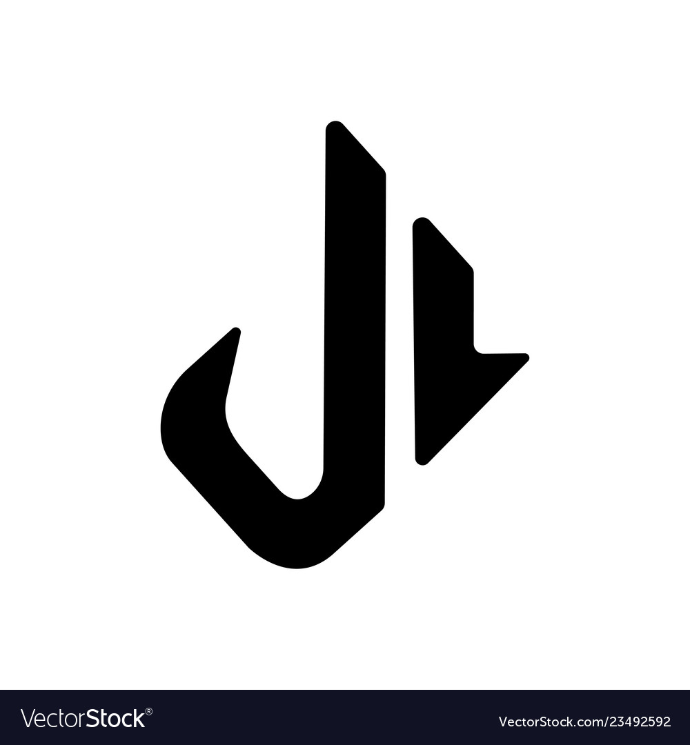 Letter l and j flat logo icons