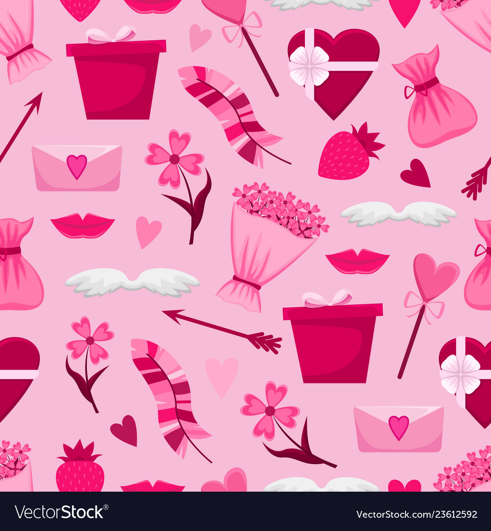Lovely seamless pattern for valentines day