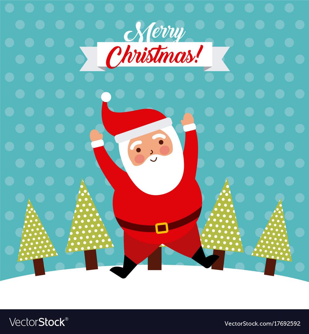 Funny Merry Christmas.Merry Christmas Jump Santa Claus Funny