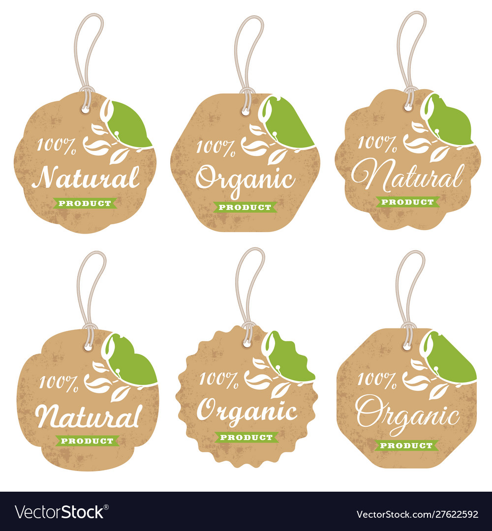 Organic cardboard labels and tags