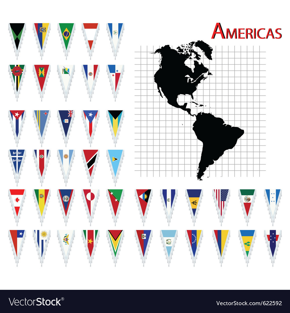 South and north america flags