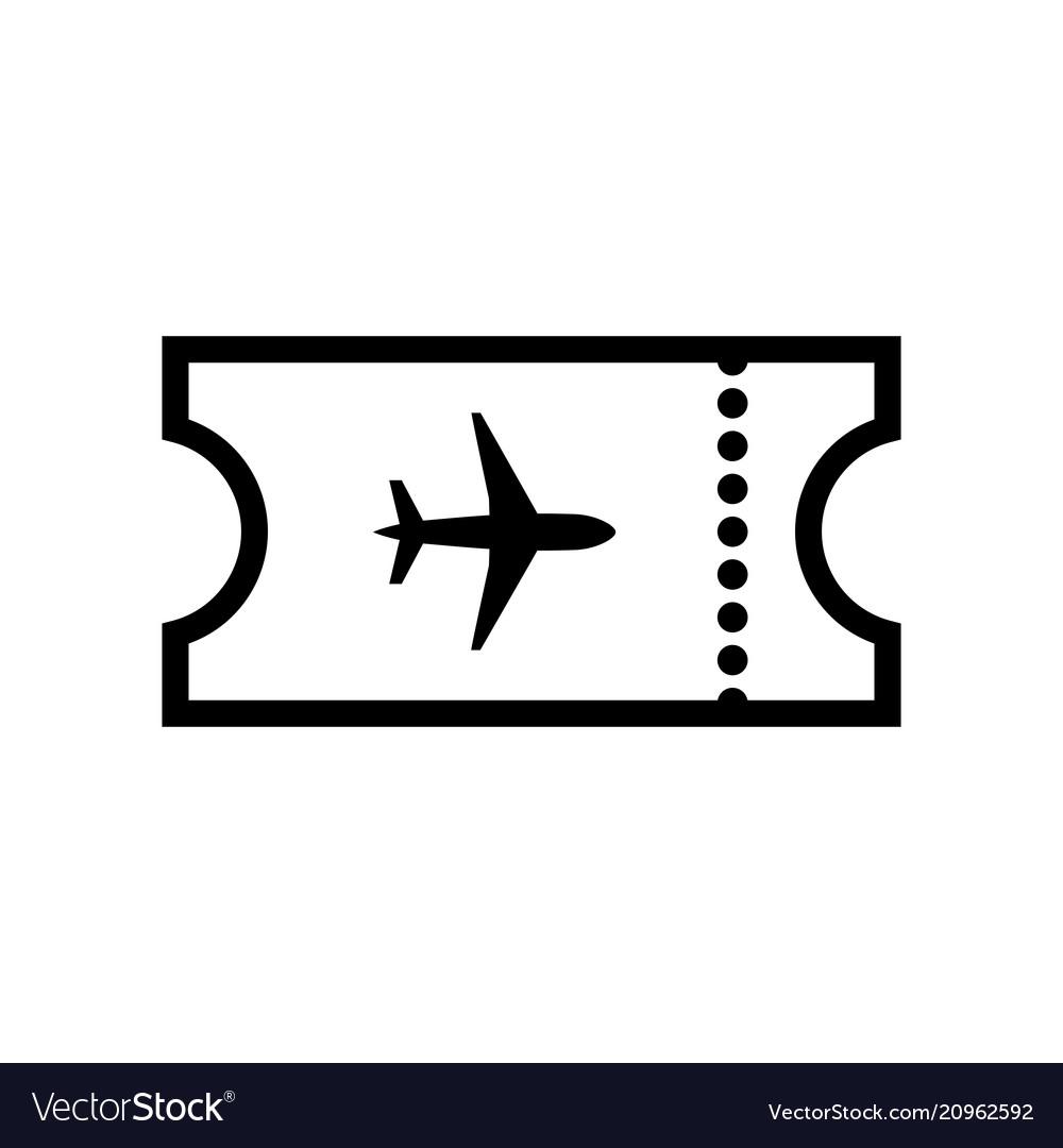 The blank ticket plane icon travel symbol