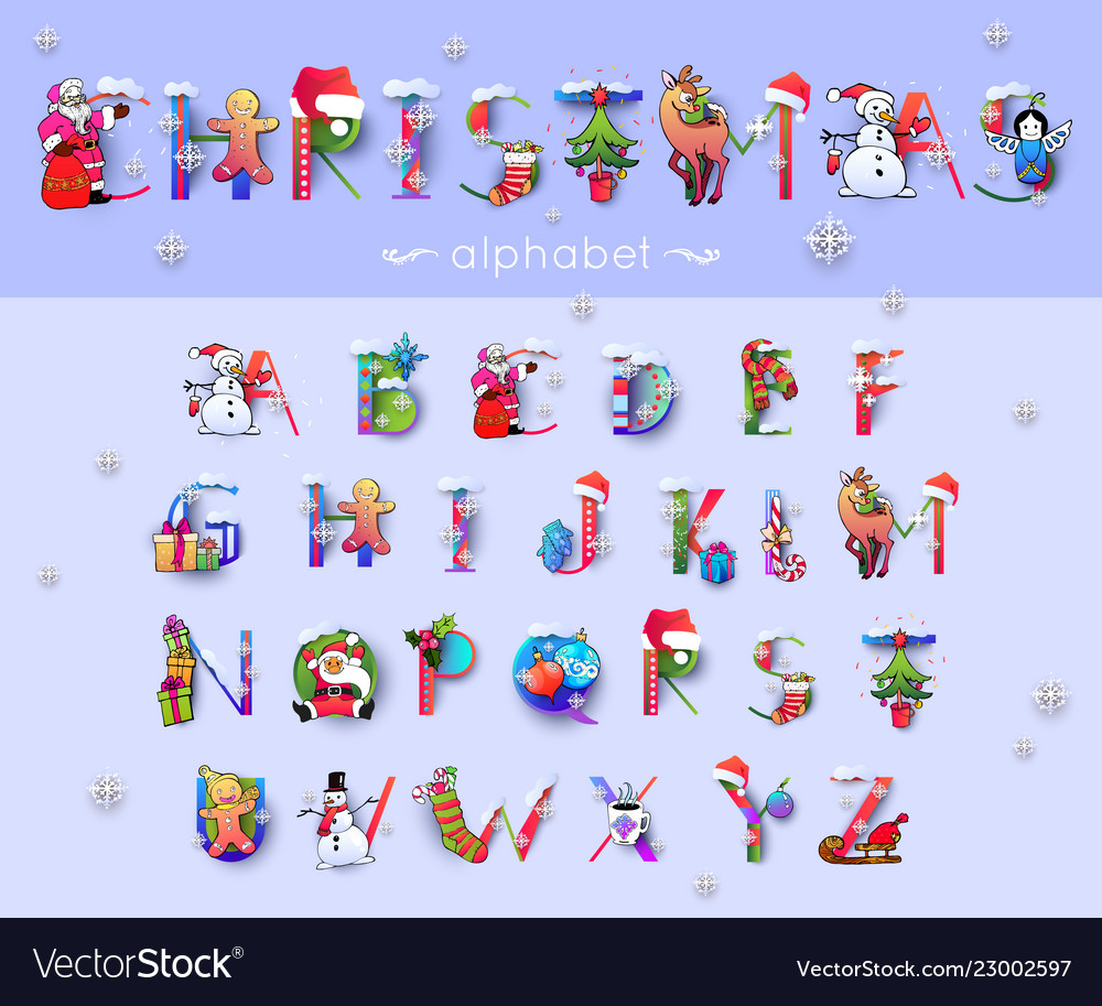 Christmas font and alphabet
