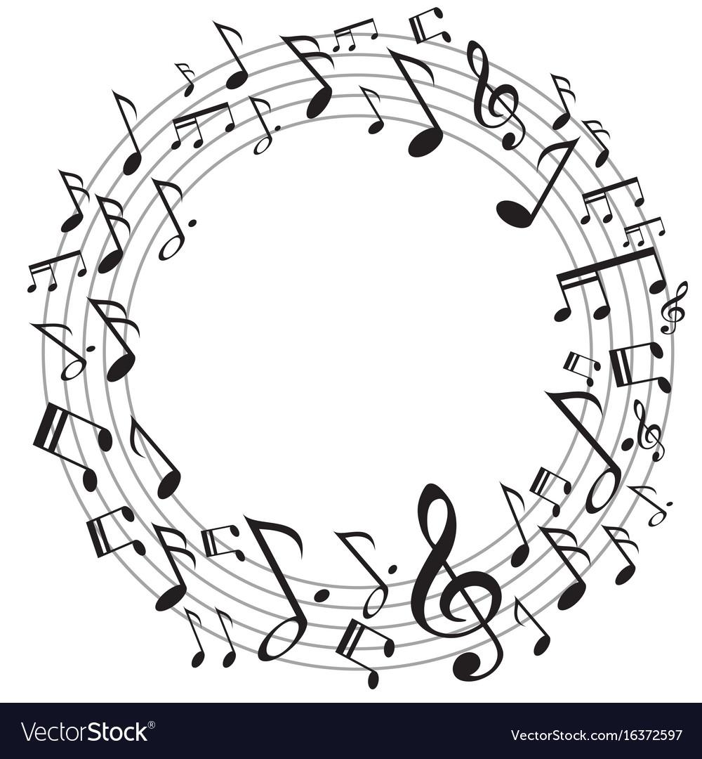 Circle music notes
