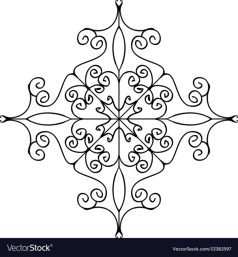 Flourish ornament isolated on white background vector image
