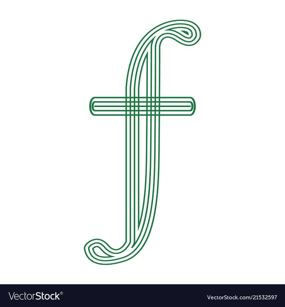 Guilder Netherlands Holland Currency Symbol Icon Vector Image