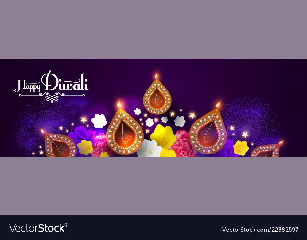 Happy diwali traditional indian festival