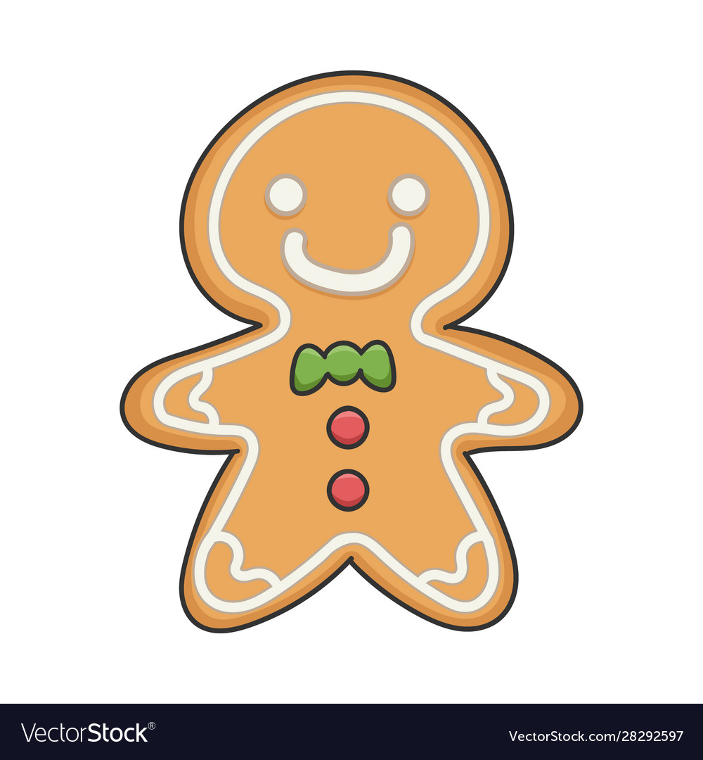 Happy smiling christmas ginger bread cookie