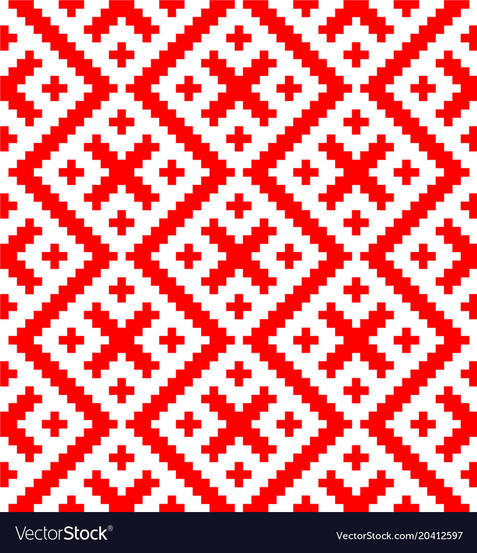 Seamless pattern based on russian folk ornament vector image