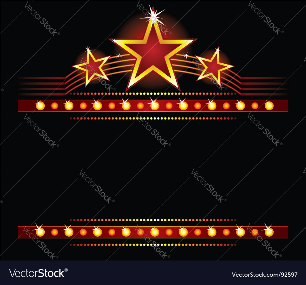Stars over copy space vector image