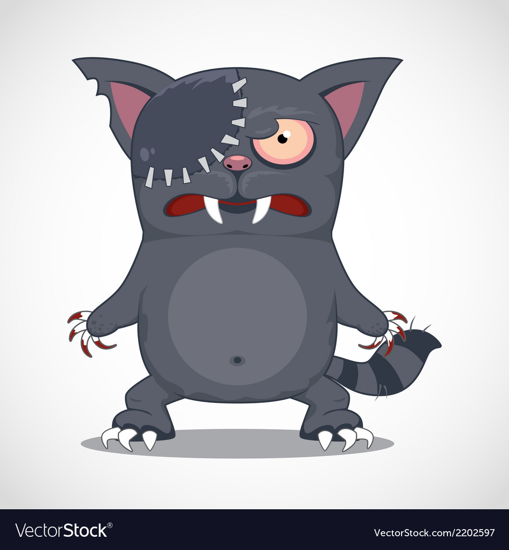 Zombie cat vector image