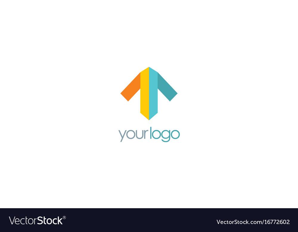 Arrow up colored logo