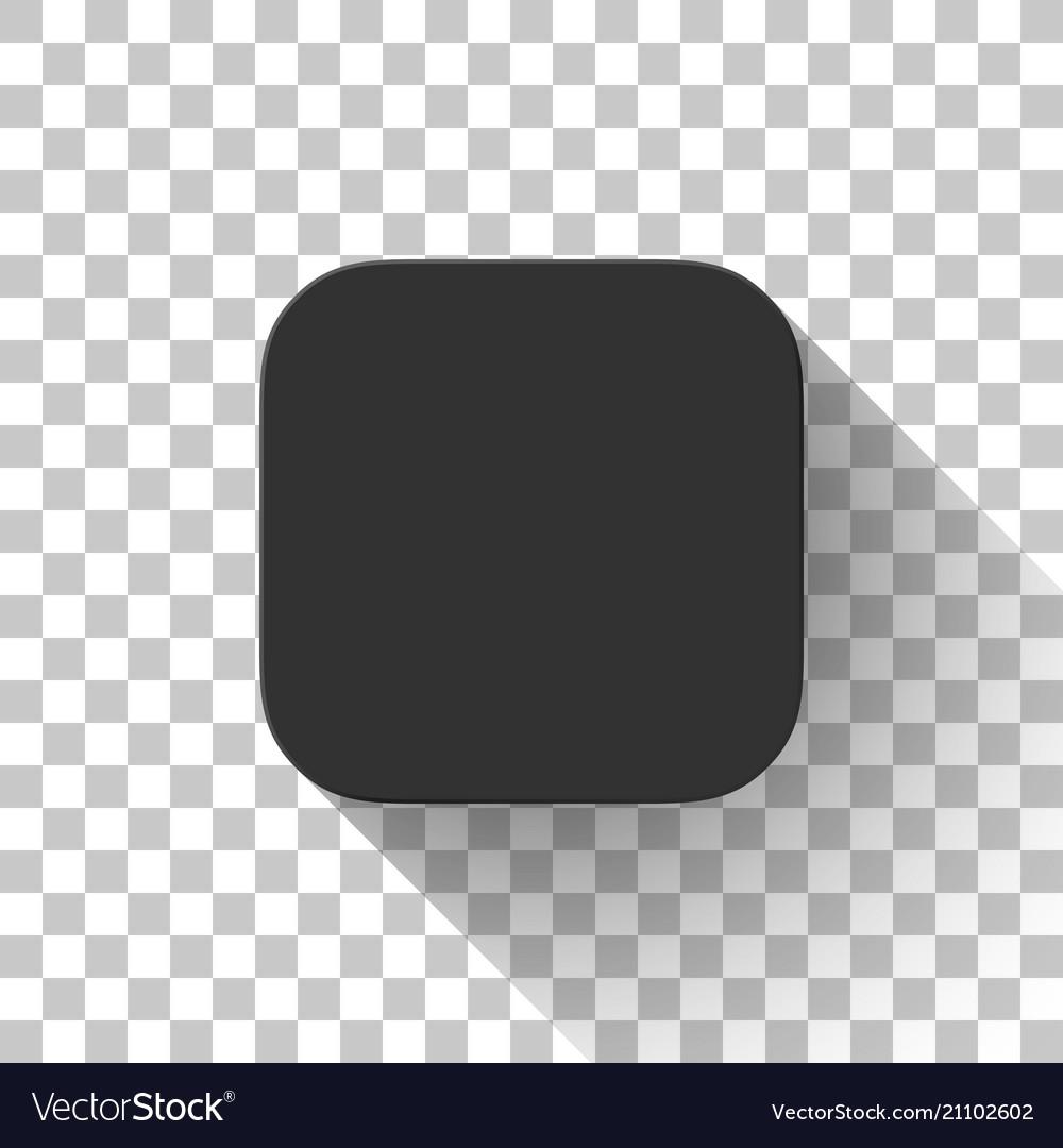 Black technology app icon blank template