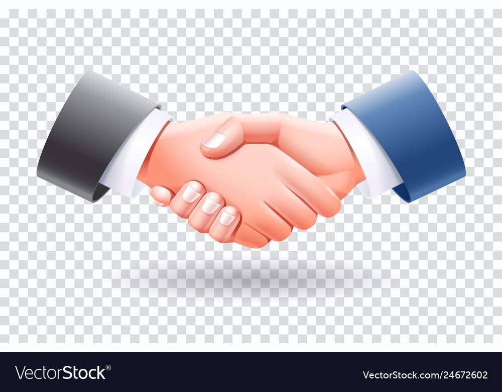 Business people handshake isolate