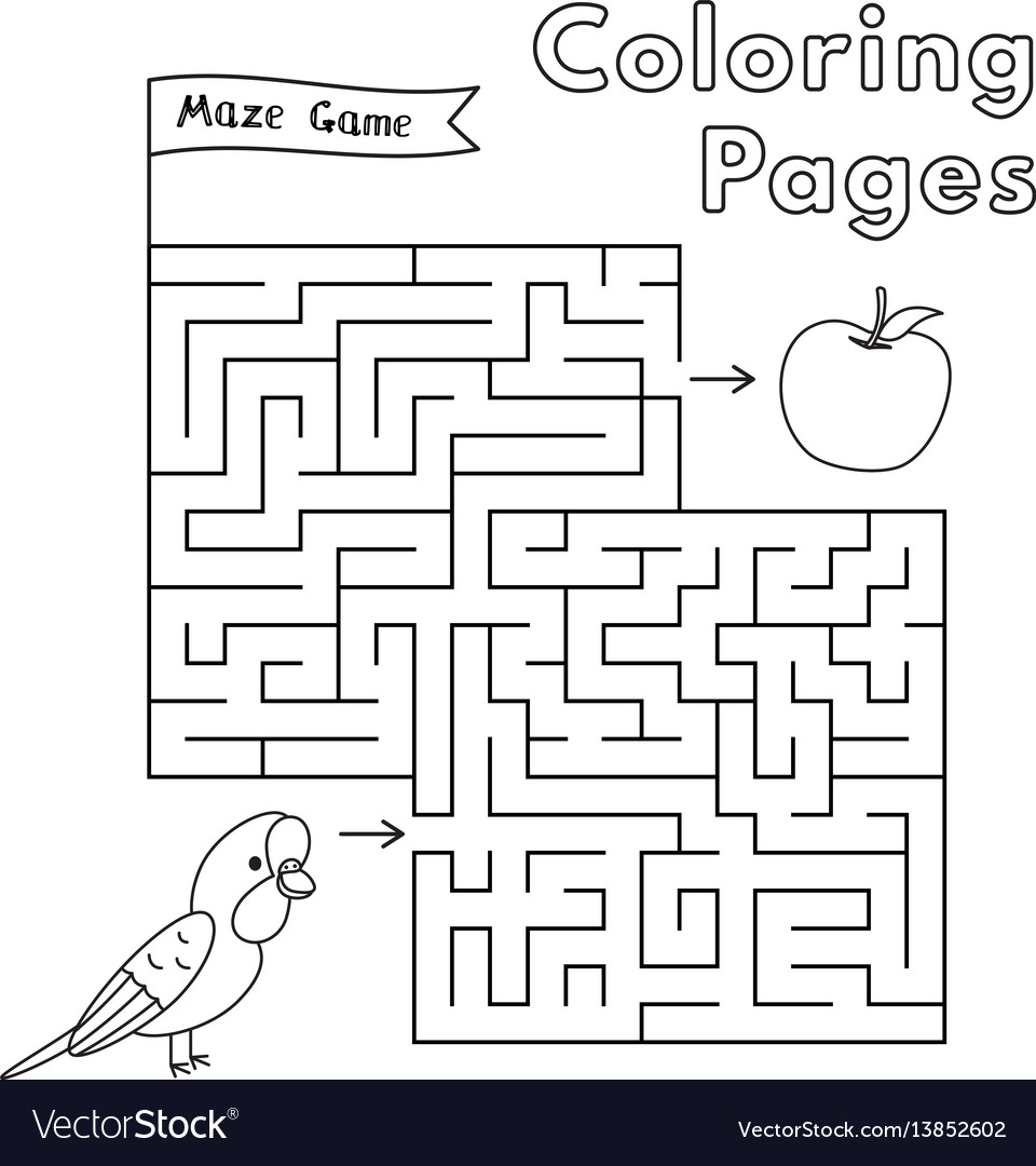 Cartoon parrot maze game